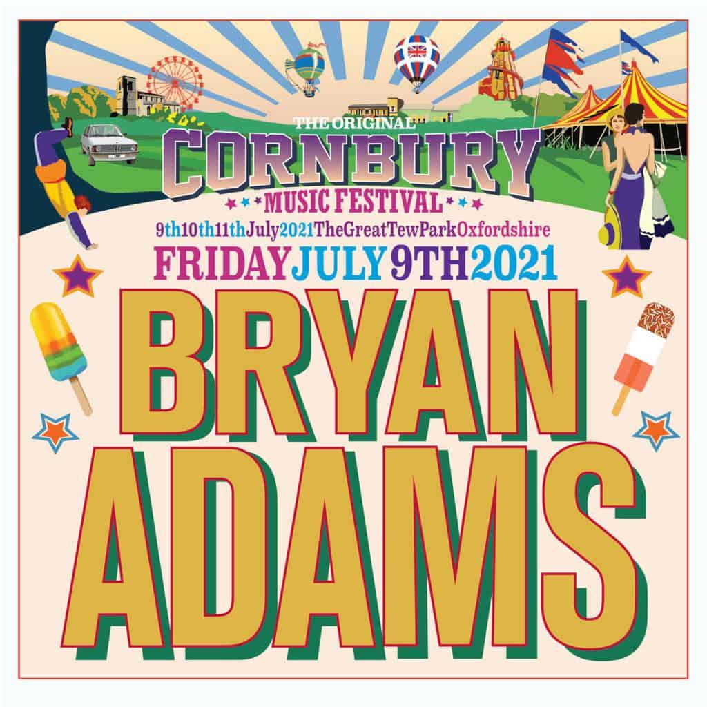 Bryan Adams returns to Cornbury 2021