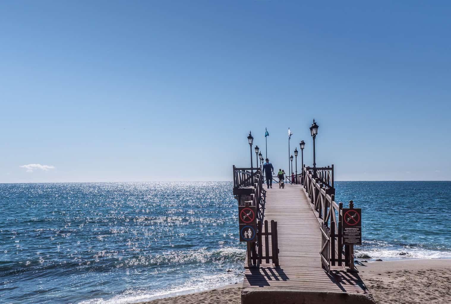 beach blue coast dawn