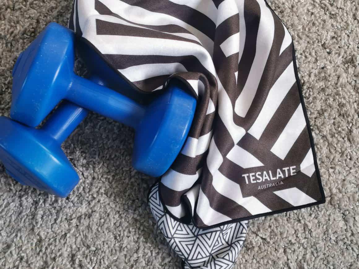 Tesalate Antibacterial Workout Towel Review #ad