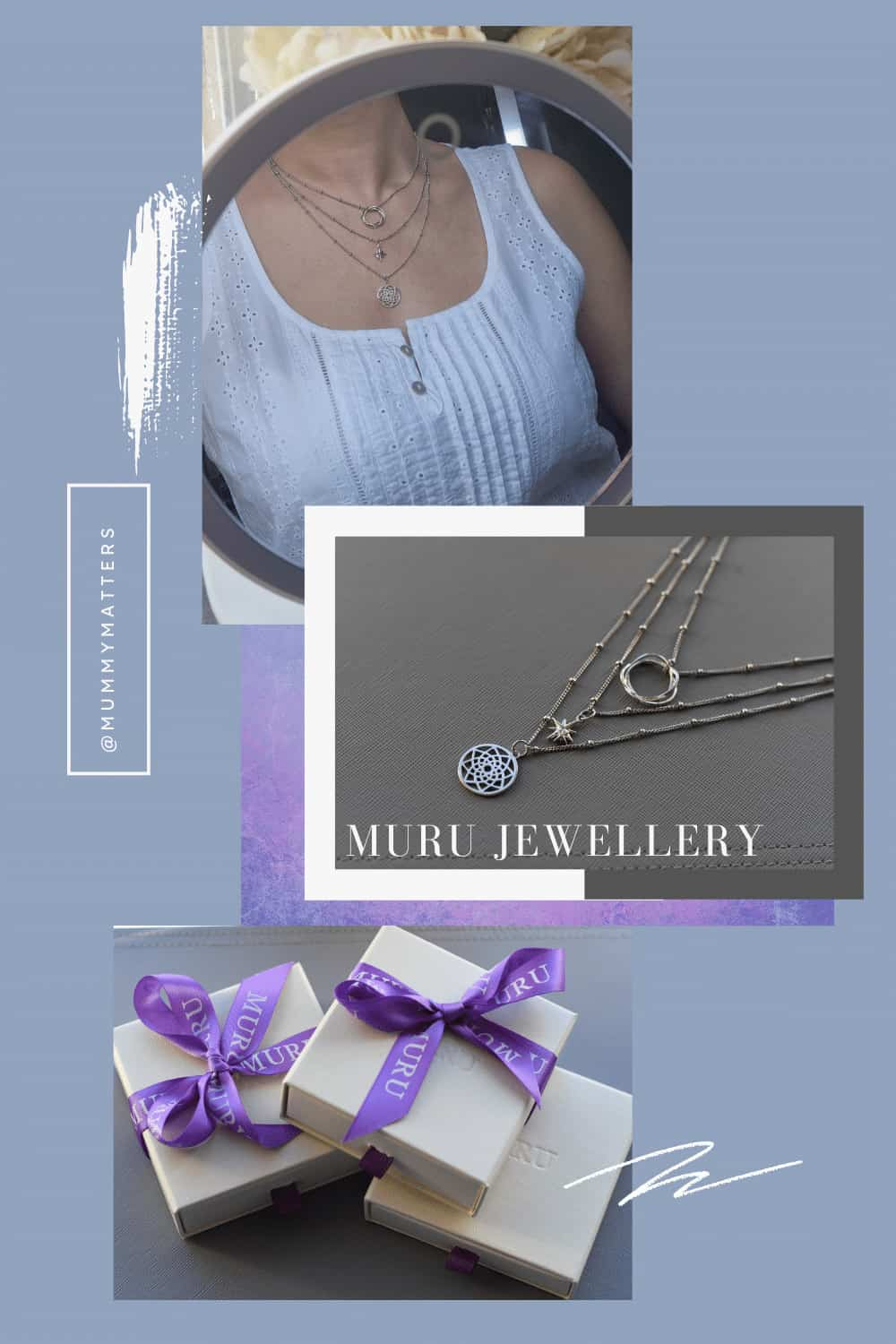 Muru Jewellery is the perfect gift for ladies who love a gift with meaning, I chose three necklaces for a layered look and the quality is outstanding.