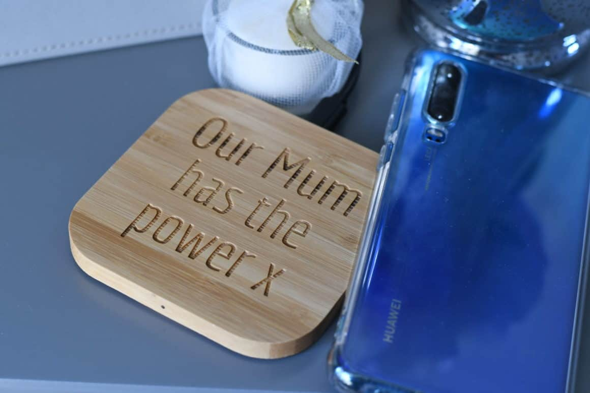 Wireless Bamboo Phone Charger
