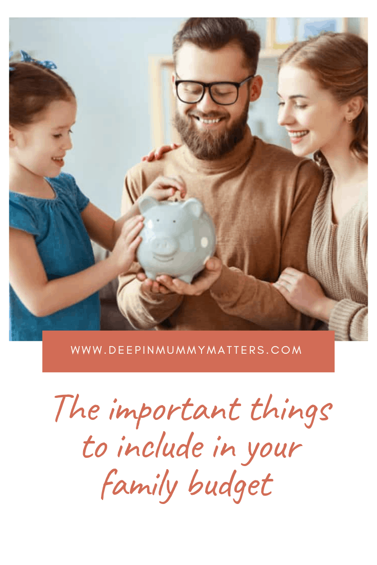 Three Important Things to Include in Your Family Budget 2