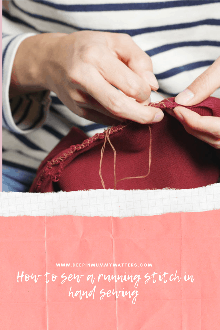 How to Sew a Running Stitch in Hand Sewing? 2