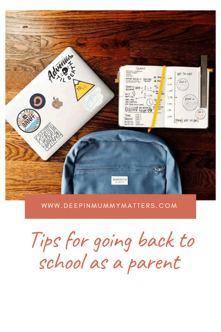 Tips for Going Back to School as a Parent 1