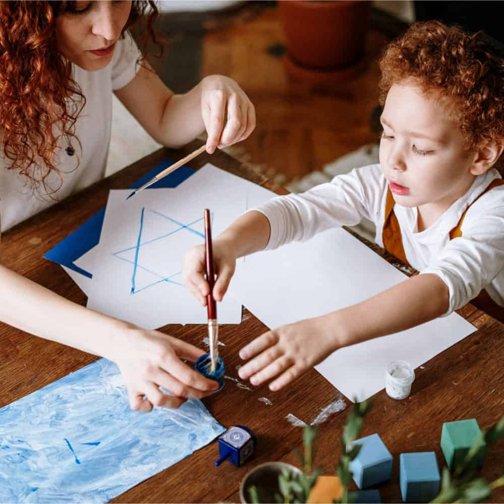 There are countless creative projects you can do with your child that not only would help you bond but will also promote your child's creative development.